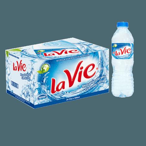 Giá 1 chai nước khoáng Lavie 500ml trên thị trường